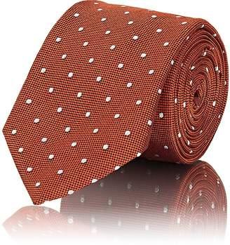 Barneys New York Men's Polka Dot Textured-Weave Silk Necktie