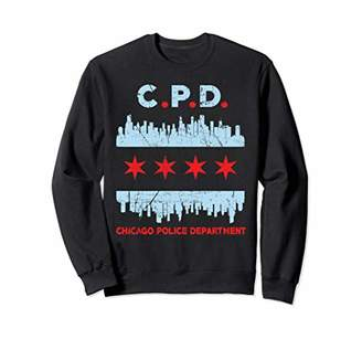 Chicago Police Officer Flag Sweatshirt Law Enforcement