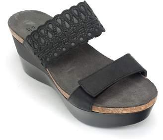 Naot Footwear Women's Rise Sandals, Black, Leather, Microfiber, Cork, Latex, 37 M EU, 6-6.5 M
