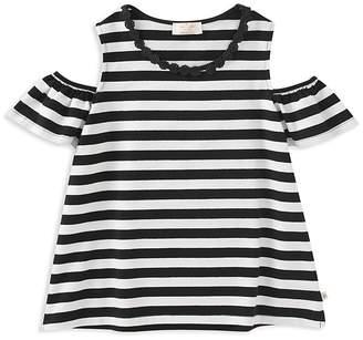 Kate Spade Girls' Striped Cold-Shoulder Top - Big Kid