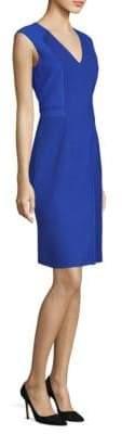 BOSS Ponte Sleeveless V-Neck Sheath Dress