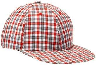 Rebel Canyon Men's Check Flat Brim Trucker Hat
