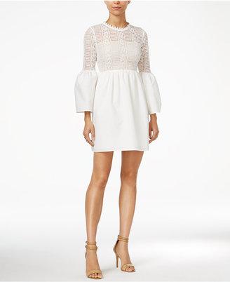 endless rose Cutout Lace-Contrast Dress $89 thestylecure.com