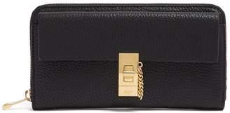 Chloé Drew zip-around leather wallet