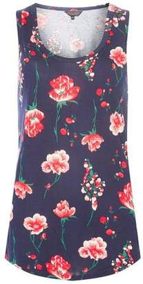 Dorothy Perkins Womens Navy Printed Vest