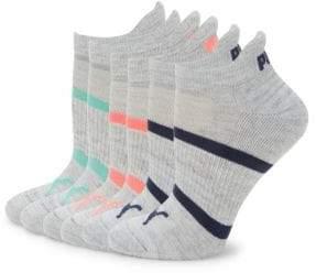 Puma Six-Pack Striped Ankle Socks