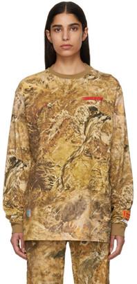 Heron Preston Brown Camouflage T-Shirt