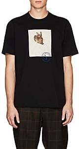 Oamc Men's Hare-Print Cotton T-Shirt - Black