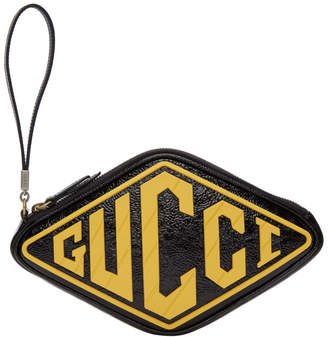 Gucci Black Logo Wrist Pouch