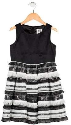 Milly Minis Girls' Sleeveless Frayed Dress