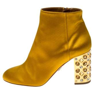 Aquazzura Yellow Leather Boots