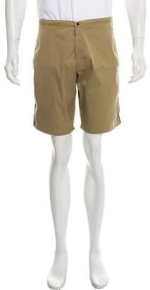 Tomas Maier Flat Front Woven Shorts