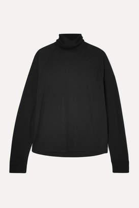Vince Lyocell And Wool-blend Turtleneck Sweater - Black
