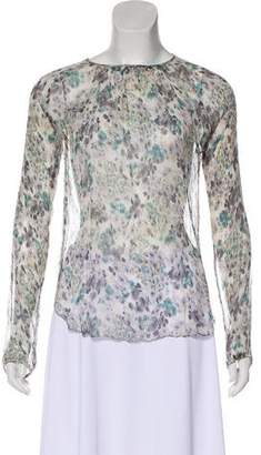 L'Agence Long Sleeve Silk Blouse
