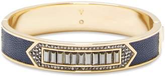 Vince Camuto Leather-inlay Jeweled Bracelet