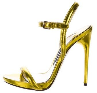 Tom Ford Metallic Leather Sandals