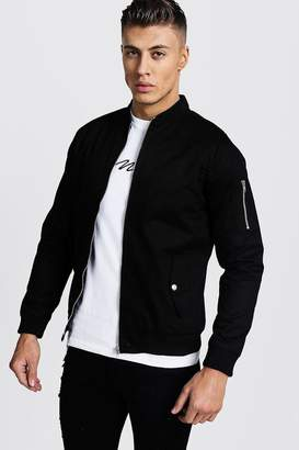 boohoo Cotton MA1 Bomber Jacket in Black