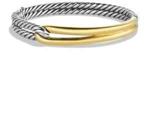 David Yurman Labyrinth Single-Loop Bracelet with Gold