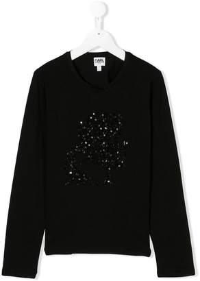 Karl Lagerfeld TEEN sequinned embellished top