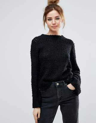 John & Jenn John + Jenn Auriel Textured High Neck Jumper