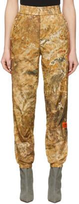 Heron Preston Brown Nylon Camo Lounge Pants