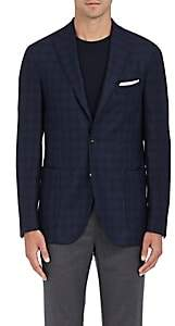 Boglioli Men's Plaid Wool Twill Two-Button Sportcoat - Blue