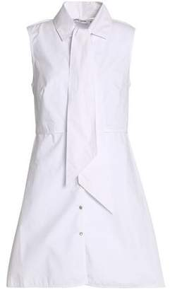 Opening Ceremony Pussy-Bow Cotton-Poplin Shirt Dress