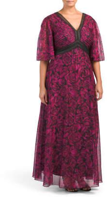Plus Long Occasion Floral Dress
