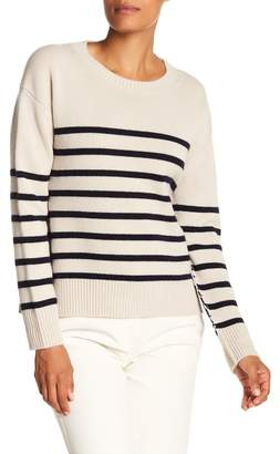 Vince Stripe Boxy Cashmere Sweater