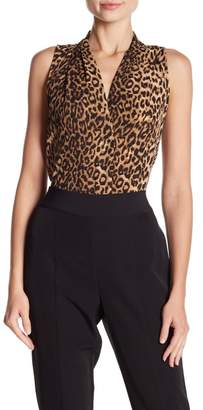Vince Camuto Sleeveless Leopard Printed Blouse
