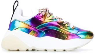 Stella McCartney Eclypse metallic rainbow sneakers