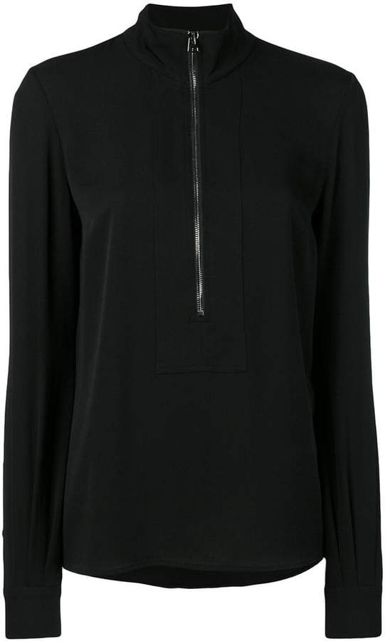 Tom Ford crepe zip front pullover