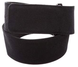 Giorgio Armani Leather Wide Belt