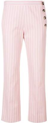 Victoria Victoria Beckham pinstripe cropped trousers