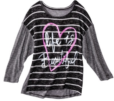 Juniors Life Is Beautiful Graphic Sweater