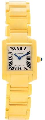 Cartier Tank Francaise W50002N2 18K Yellow Gold 20mm Womens Watch