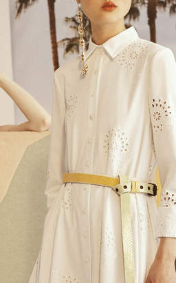 Carolina Herrera Eyelet A-Line Dress