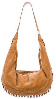 Pre Owned At Therealreal The Row Sling 19 Suede Fringe Hobo