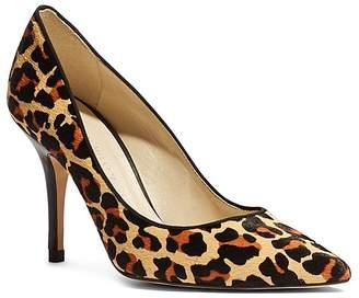 Karen Millen Women's Leopard Print Calf Hair High Heel Court Pumps