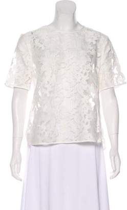 Reiss Embroidered Short Sleeve Top w/ Tags