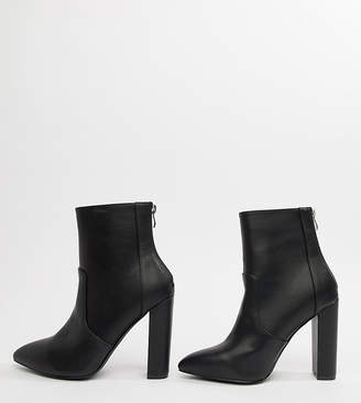 aeaf2b51183c Raid Wide Fit RAID Wide Fit Nila Black Heeled Ankle Boots