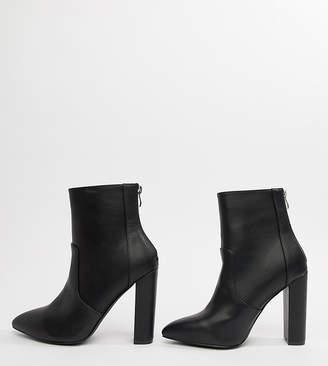 Raid Wide Fit RAID Wide Fit Nila Black Heeled Ankle Boots