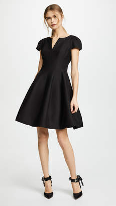 Halston Notch Neck Tulip Dress