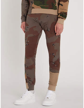 Off-White Camouflage-print tapered cotton jogging bottoms