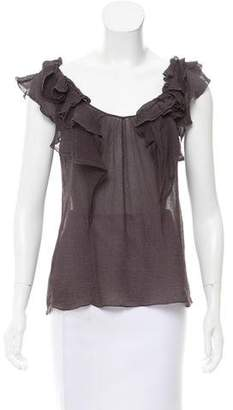 Rebecca Taylor Ruffled Sleeveless Top