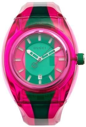 Gucci Sync striped rubber watch