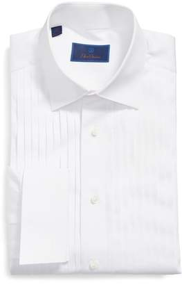David Donahue Regular Fit French Cuff Tuxedo Shirt