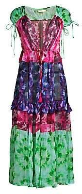 Nfc Women's Capri Tiered Tie-Dye Kimono