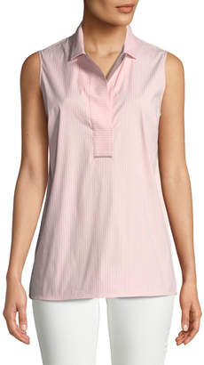Lafayette 148 New York Kit Sleeveless Stripe Blouse