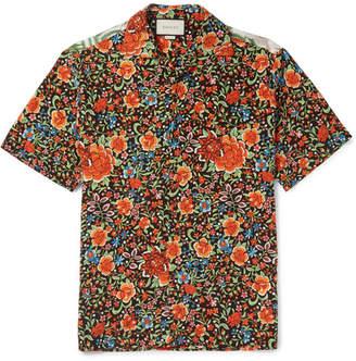 Gucci Camp-Collar Printed Silk Shirt $980 thestylecure.com